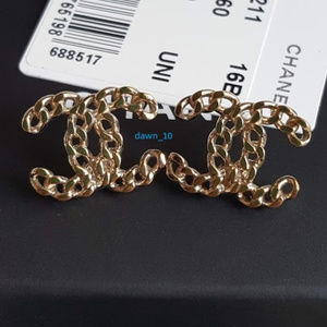 Chanel Chain CC Earrings, Gold